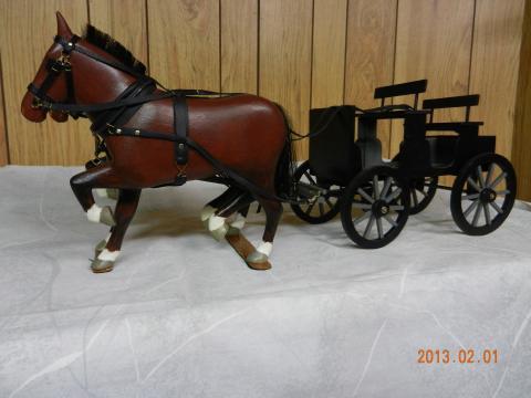 Horse carvings