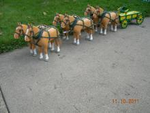 Horse carvings